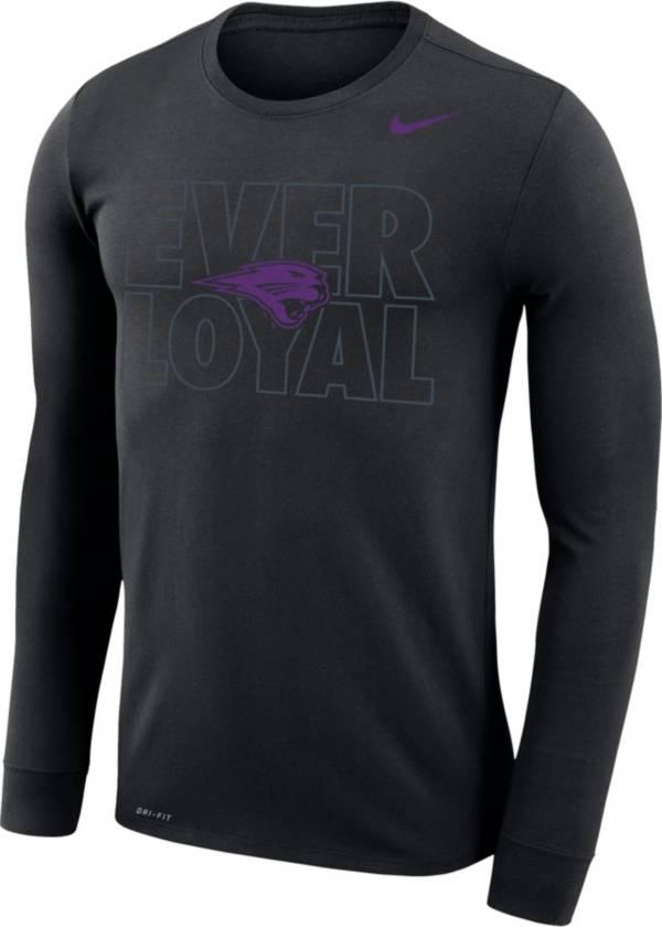 Nike Men's University of Northern Iowa Panthers 'Blackout' Dri-FIT Long Sleeve T-Shirt product image
