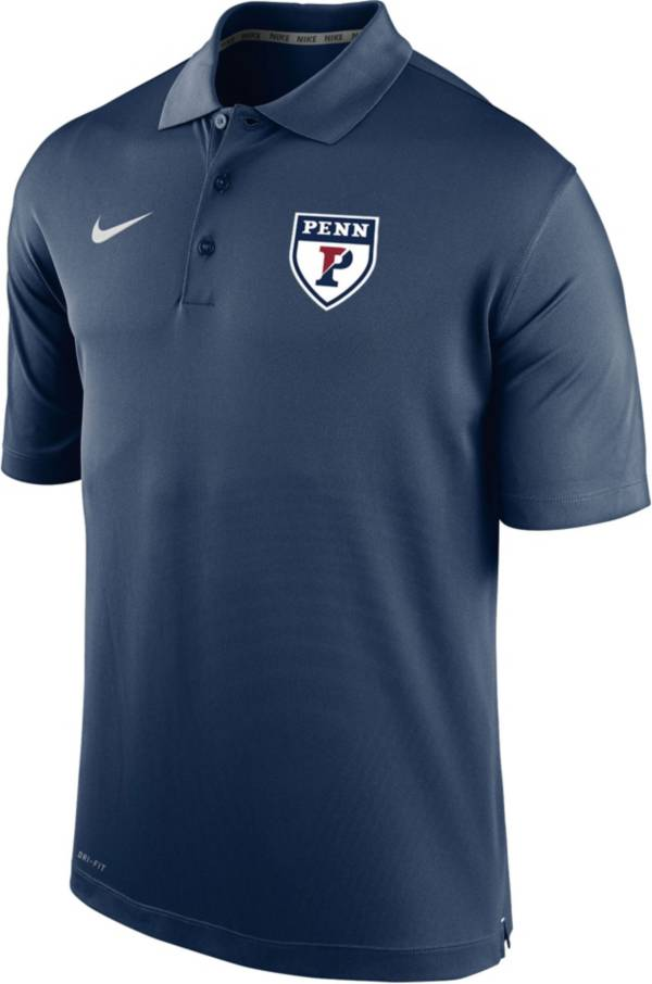 Nike Men's University of Pennsylvania Quakers Blue Varsity Polo product image