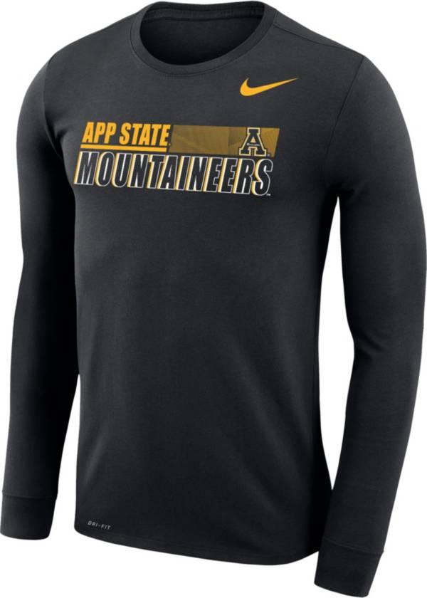Nike Men's Appalachian State Mountaineers Dri-FIT Legend Long Sleeve Black T-Shirt product image