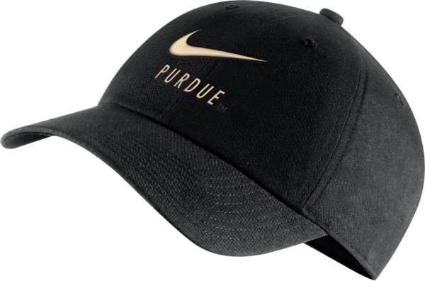 Nike Men's Purdue Boilermakers Heritage86 Adjustable Black Hat product image