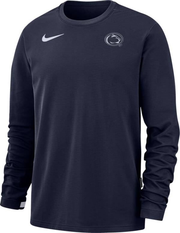 Nike Men's Penn State Nittany Lions Blue Dri-FIT Coaches Pullover Long Sleeve Football T-Shirt product image