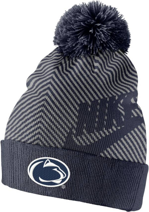 Nike Men's Penn State Nittany Lions Blue Futura Knit Pom Beanie product image