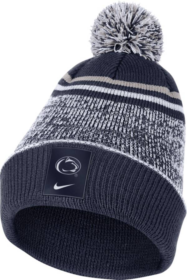 Nike Men's Penn State Nittany Lions Blue Football Sideline Cuffed Pom Beanie product image