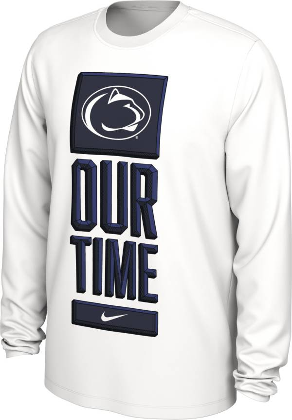 Nike Men's Penn State Nittany Lions 'Our Time' Bench Long Sleeve White T-Shirt product image
