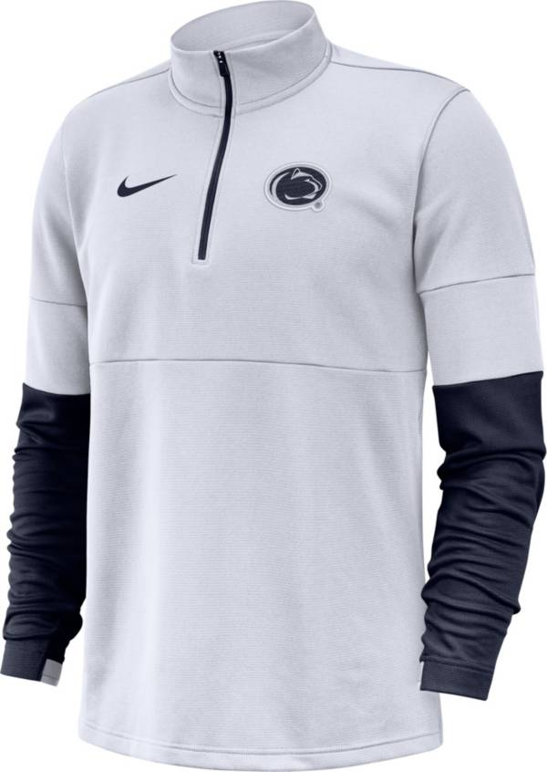 Nike Men's Penn State Nittany Lions Football Sideline Therma-FIT Half-Zip White Shirt product image
