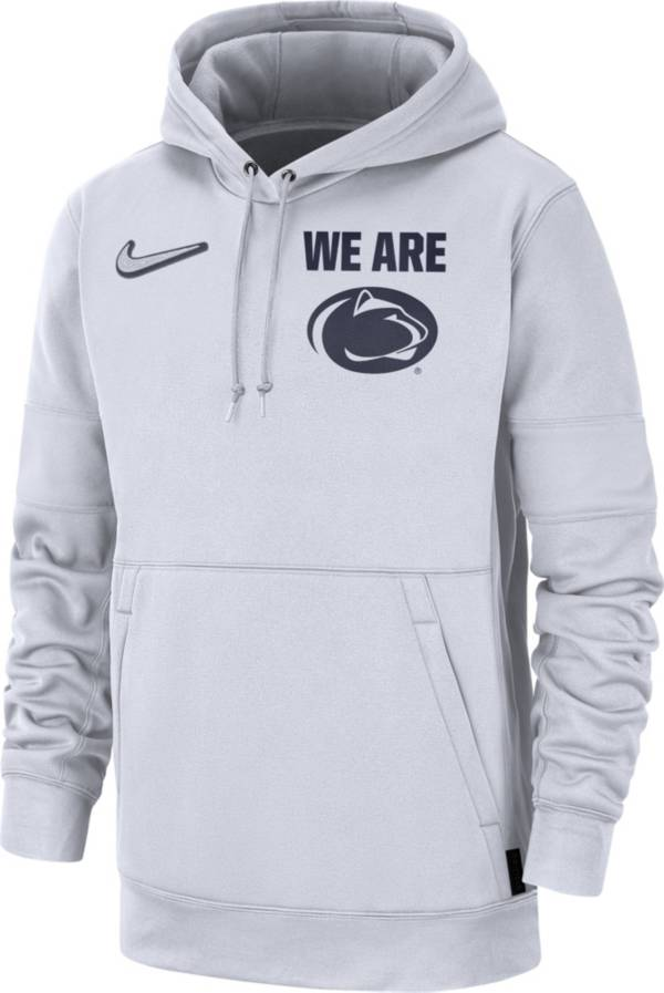 Nike Men's Penn State Nittany Lions Therma Local Pullover White Hoodie product image
