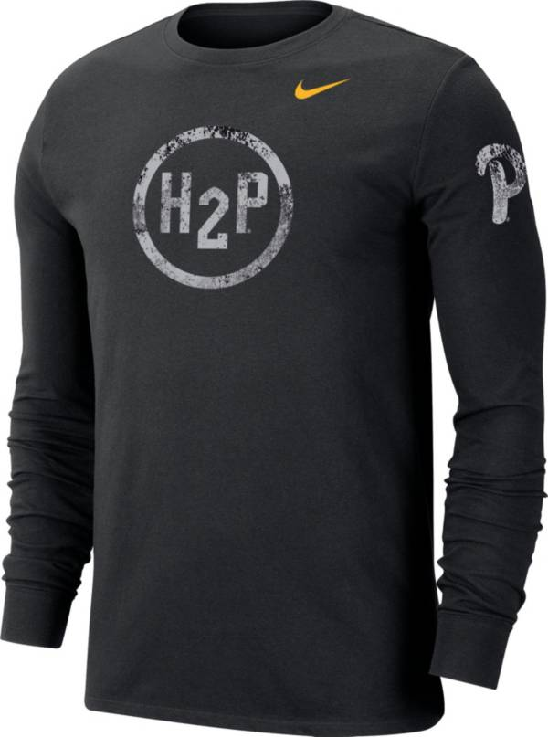 Nike Men's Pitt Panthers Grey Dri-FIT Cotton Performance Long Sleeve T-Shirt product image