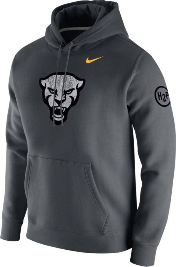 Nike Men's Pitt Panthers Grey Club Arch Pullover Fleece Hoodie product image