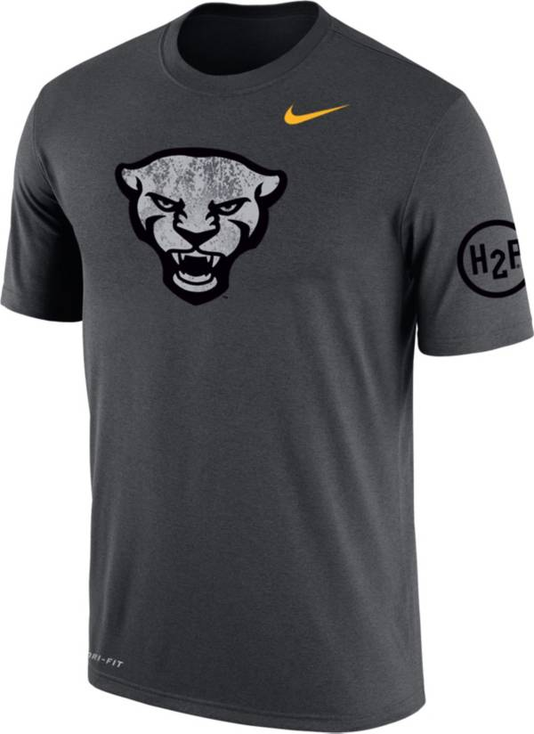 Nike Men's Pitt Panthers Grey Dri-FIT Cotton Performance T-Shirt product image
