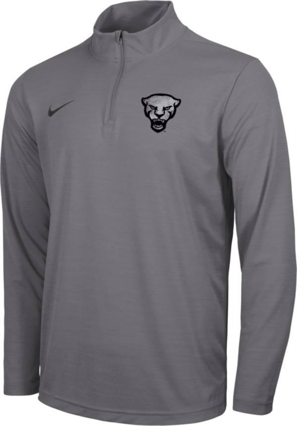 Nike Men's Pitt Panthers Grey Intensity Quarter-Zip Pullover Shirt product image