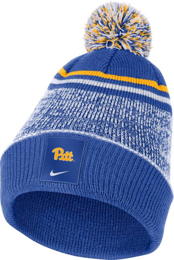 Nike Men's Pitt Panthers Blue Football Sideline Cuffed Pom Beanie product image