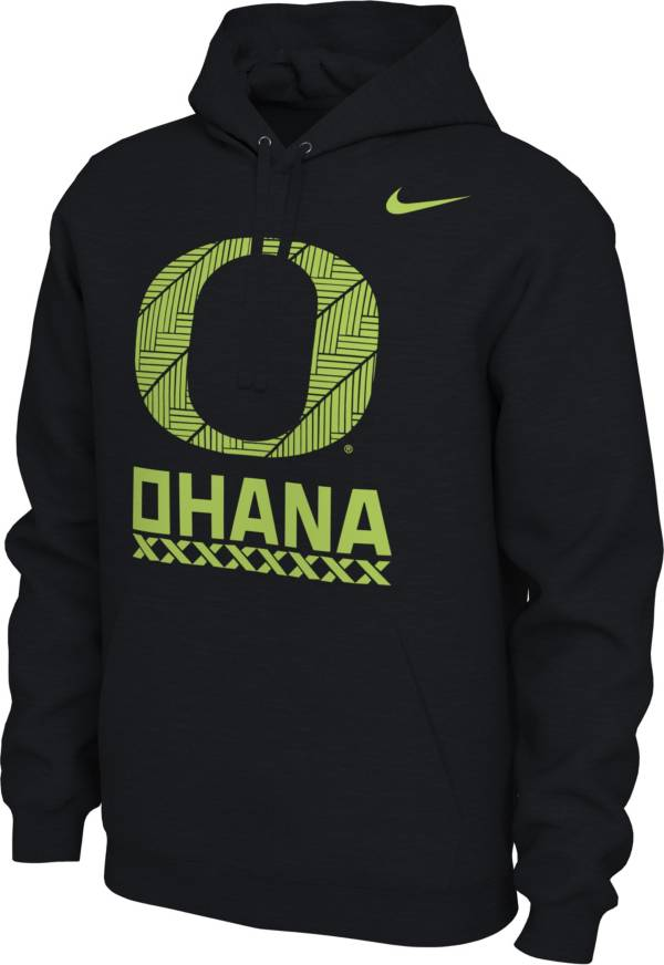 Nike Men's Oregon Ducks Black 'Ohana' Pullover Football Hoodie product image