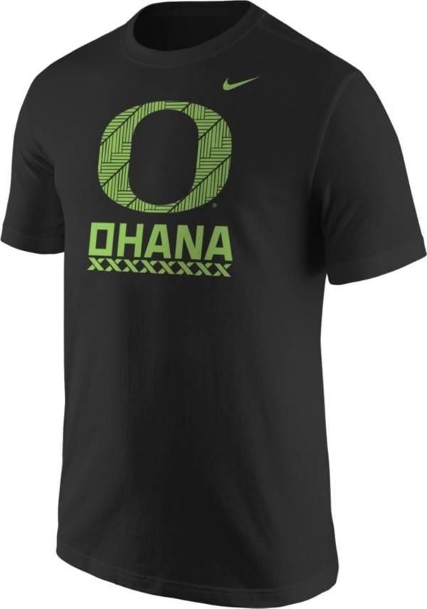 Nike Men's Oregon Ducks Black 'Ohana' Football T-Shirt product image