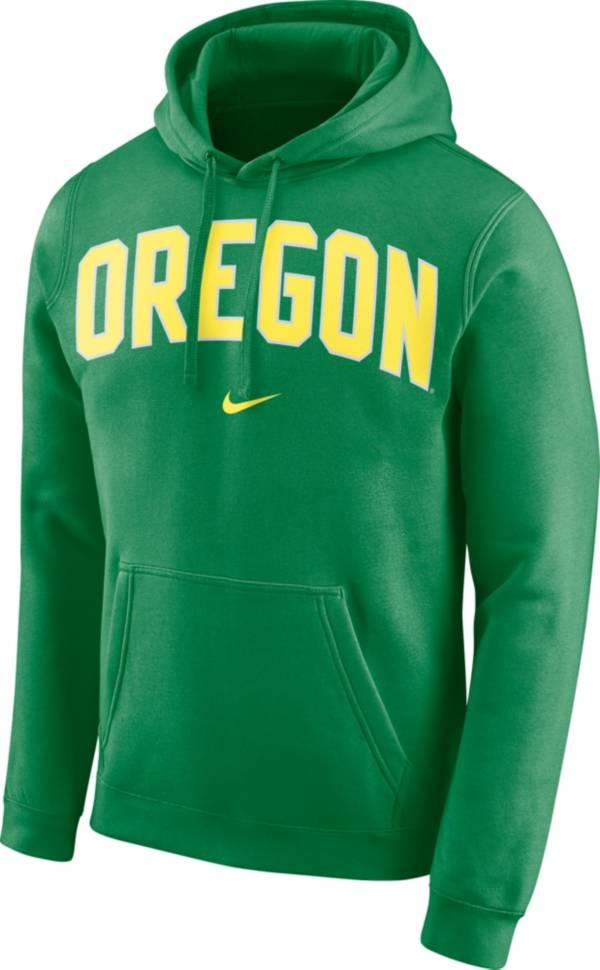 Nike Men's Oregon Ducks Green Club Arch Pullover Fleece Hoodie product image