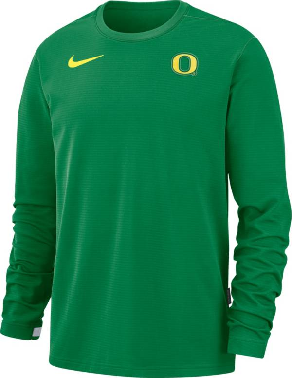 Nike Men's Oregon Ducks Green Dri-FIT Coaches Pullover Long Sleeve Football T-Shirt product image