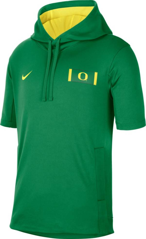 Nike Men's Oregon Ducks Green Showout Short Sleeve Hoodie product image
