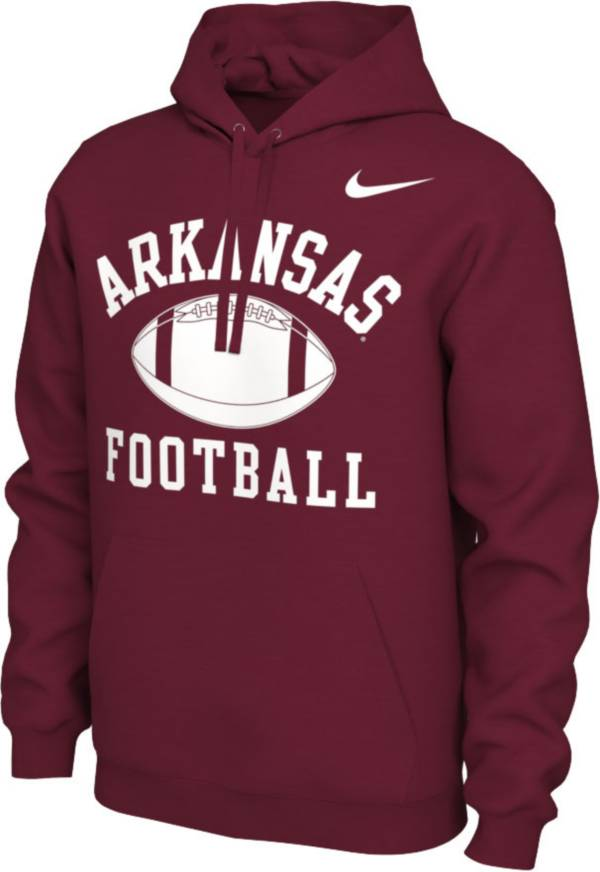 Nike Men's Arkansas Razorbacks Cardinal Pullover Football Hoodie product image