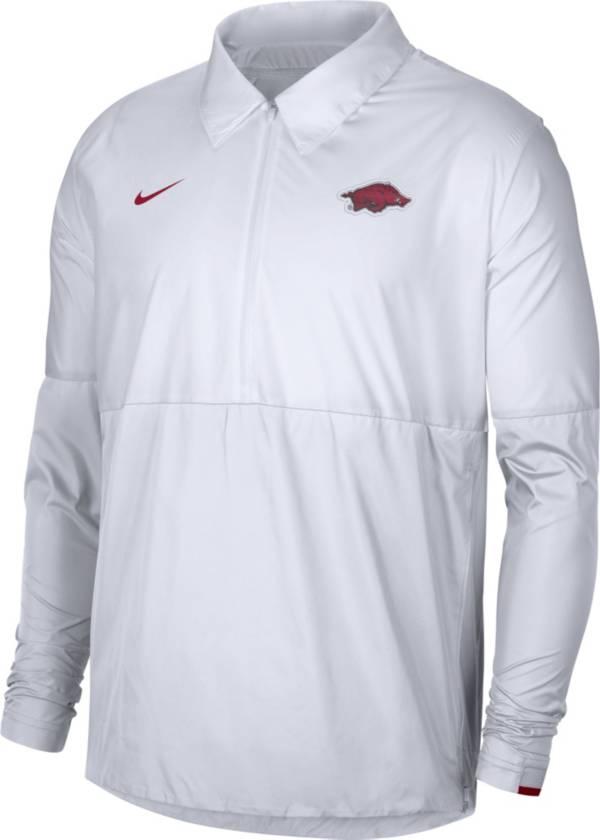 Nike Men's Arkansas Razorbacks Lightweight Football Coach's White Jacket product image