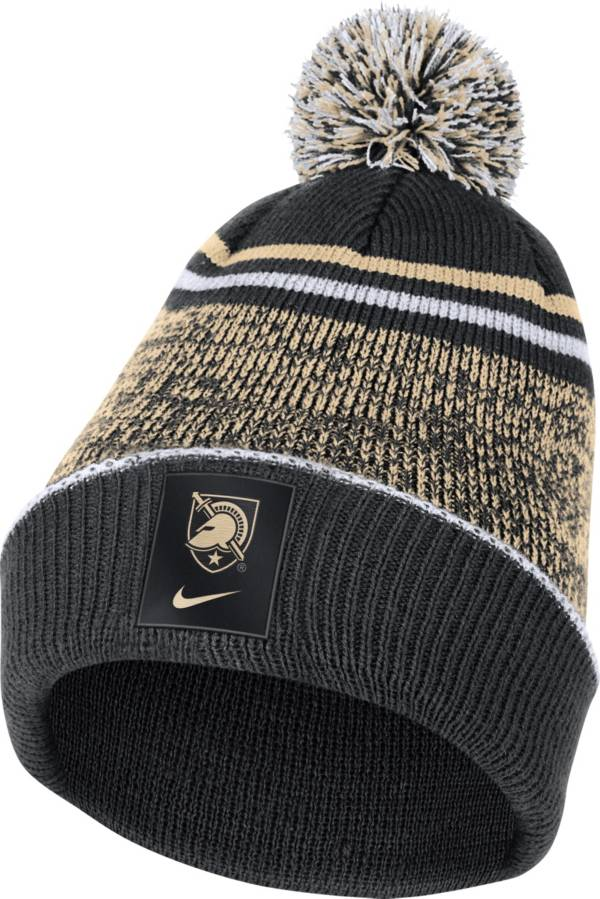Nike Men's Army West Point Black Knights Army Black Football Sideline Cuffed Pom Beanie product image