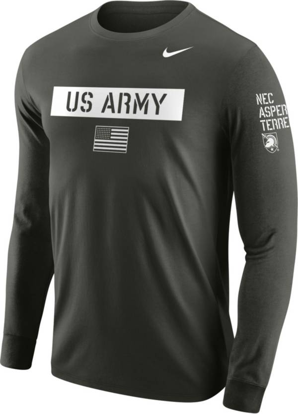 Nike Men's Army Black Knights Green Block Letter Long Sleeve T-Shirt product image