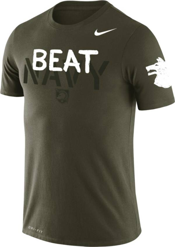 Nike Men's Army Black Knights Green 'Beat Navy' Legend Performance T-Shirt product image