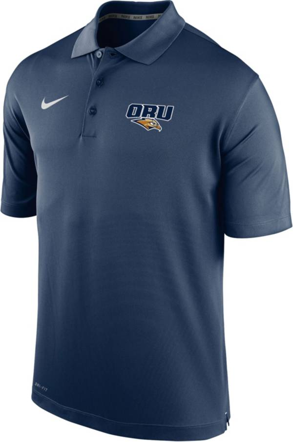 Nike Men's Oral Roberts Golden Eagles Navy Blue Varsity Polo product image