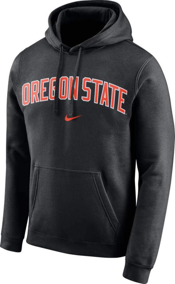Nike Men's Oregon State Beavers Club Arch Pullover Fleece Black Hoodie product image