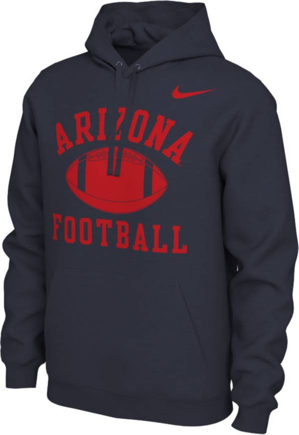 Nike Men's Arizona Wildcats Navy Pullover Football Hoodie product image
