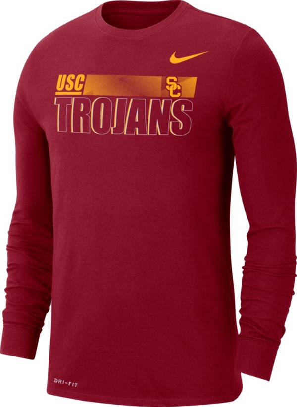 Nike Men's USC Trojans Cardinal Legend Team Issue Long Sleeve Football T-Shirt product image