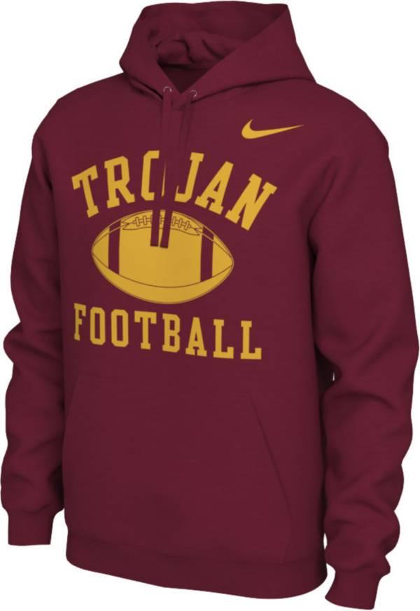 Nike Men's USC Trojans Cardinal Pullover Football Hoodie product image