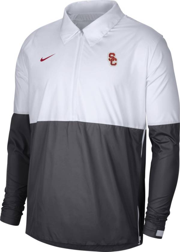 Nike Men's USC Trojans White/Grey Lightweight Football Coach's Jacket product image