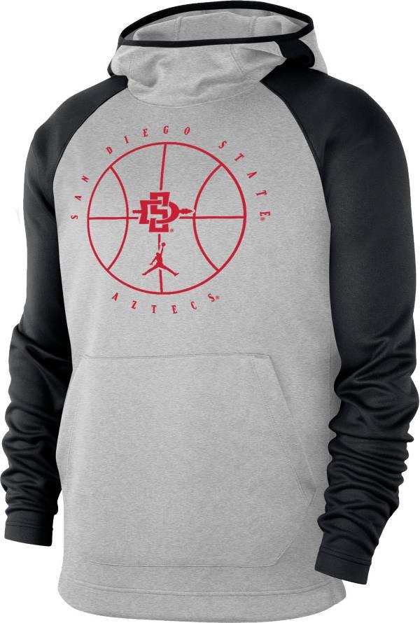 Nike Men's San Diego State Aztecs Grey Spotlight Pullover Basketball Hoodie product image