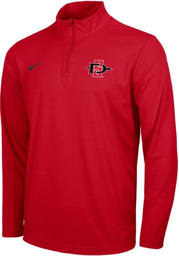 Nike Men's San Diego State Aztecs Scarlet Intensity Quarter-Zip Shirt product image
