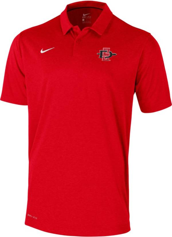 Nike Men's San Diego State Aztecs Scarlet Early Season Football Polo product image