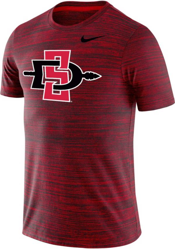 Nike Men's San Diego State Aztecs Scarlet Velocity Performance T-Shirt product image
