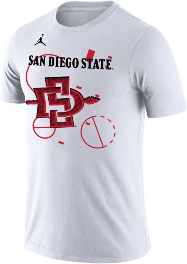 Jordan Men's San Diego State Aztecs Bench White T-Shirt product image