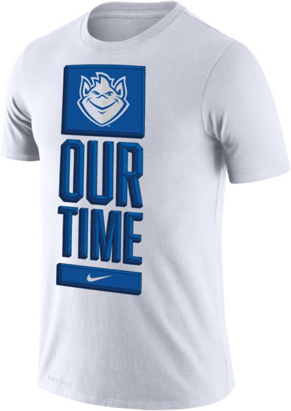 Nike Men's Saint Louis Billikens 'Our Time' Bench White T-Shirt product image