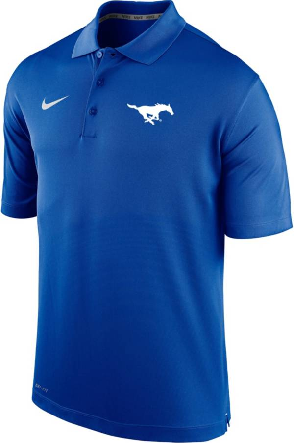 Nike Men's Southern Methodist Mustangs Blue Varsity Polo product image