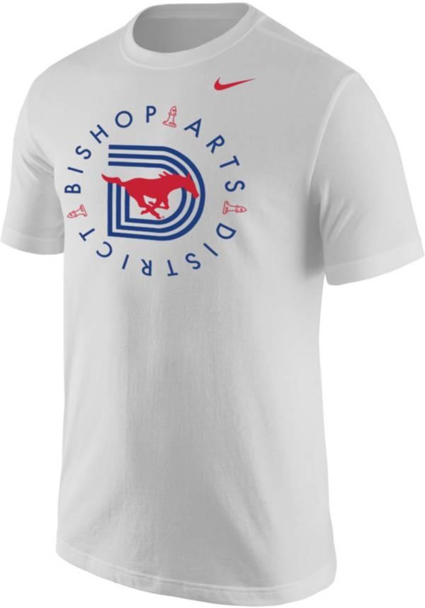 Nike Men's Southern Methodist Mustangs Bishop Arts District White T-Shirt product image