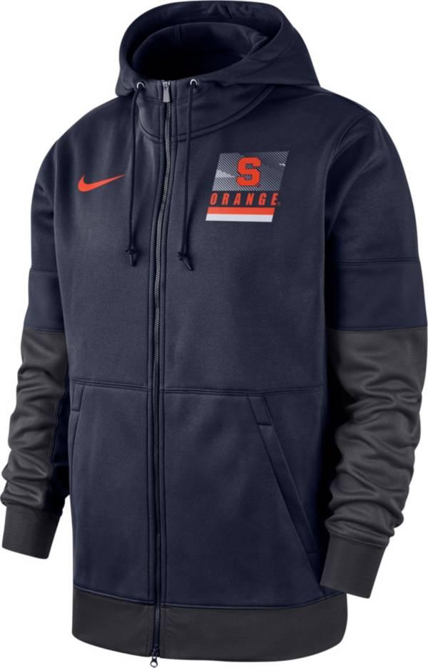 Nike Men's Syracuse Orange Blue Therma Football Sideline Full-Zip Hoodie product image