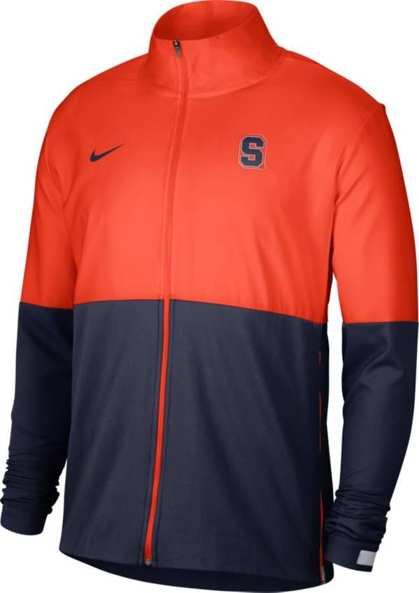 Nike Men's Syracuse Orange Orange/Blue Colorblock Woven Full-Zip Jacket product image
