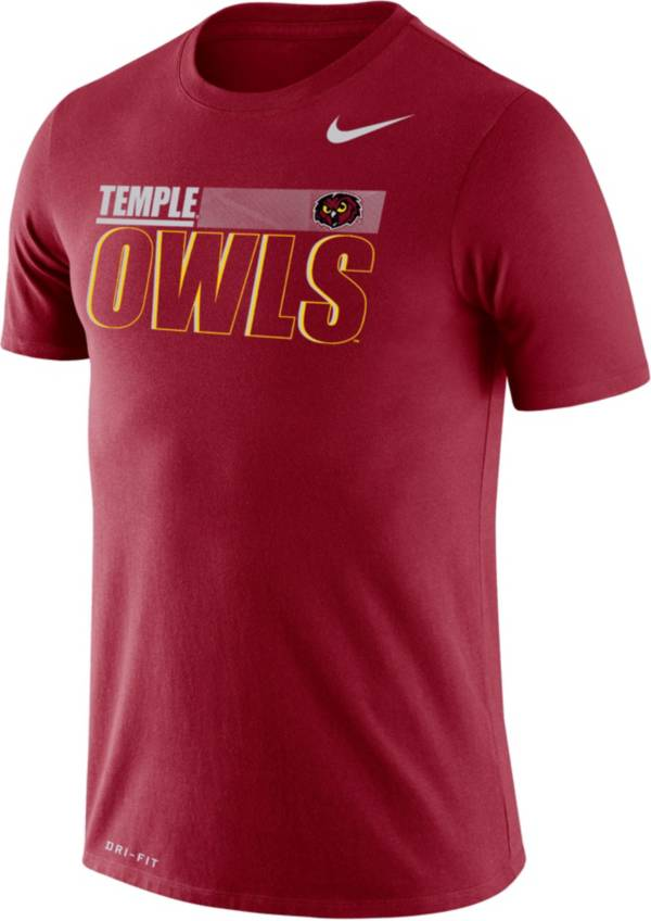 Nike Men's Temple Owls Cherry Legend Performance T-Shirt product image