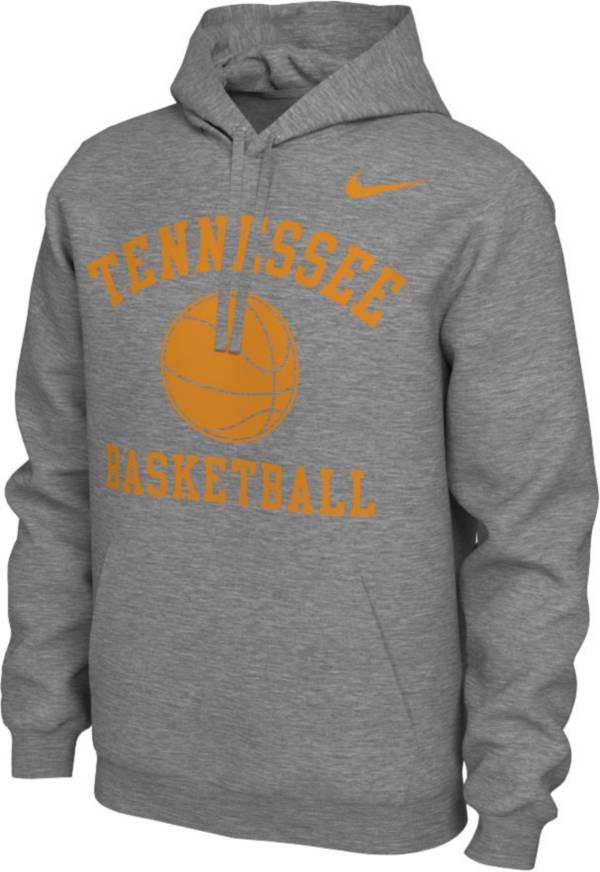 Nike Men's Tennessee Volunteers Grey Pullover Basketball Hoodie product image