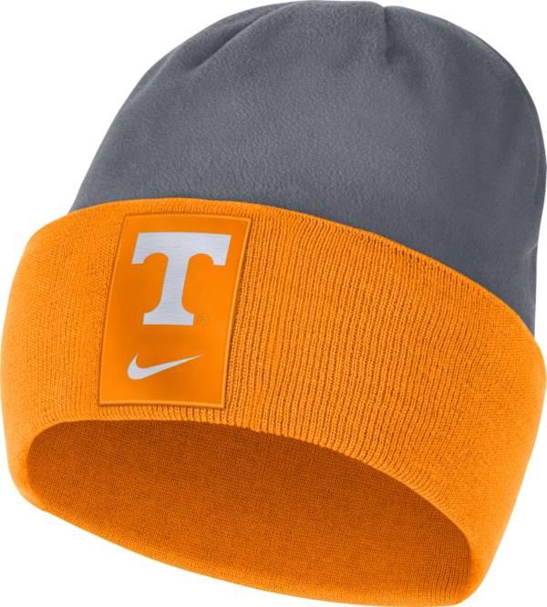 Nike Men's Tennessee Volunteers Tennessee Orange/Grey Dri-FIT Football Sideline Cuffed Knit Beanie product image