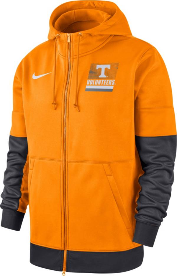 Nike Men's Tennessee Volunteers Tennessee Orange Therma Football Sideline Full-Zip Hoodie product image