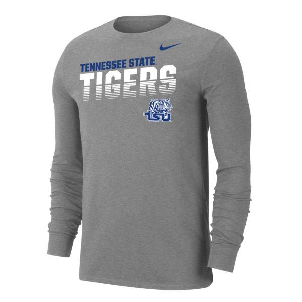 Nike Men's Tennessee State Tigers  Grey Dri-FIT Cotton Long Sleeve T-Shirt product image