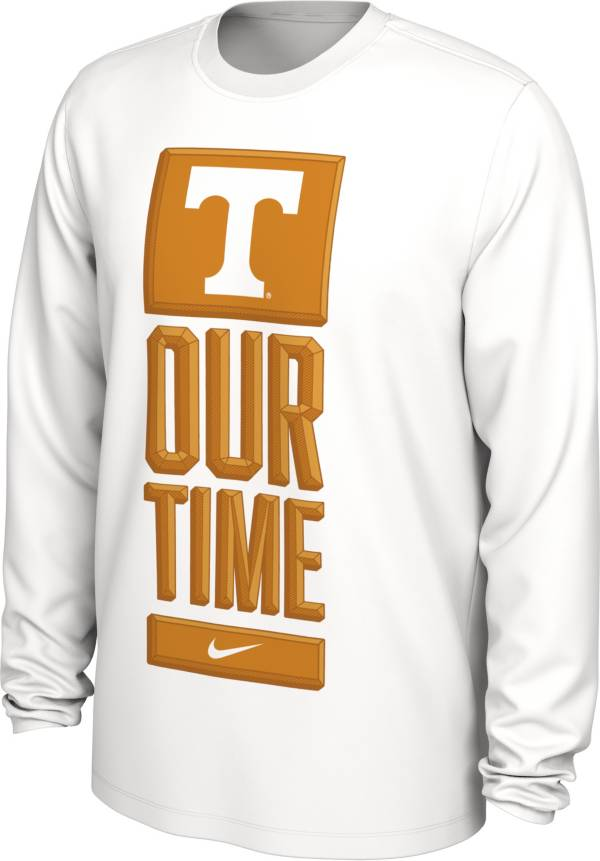 Nike Men's Tennessee Volunteers 'Our Time' Bench Long Sleeve White T-Shirt product image