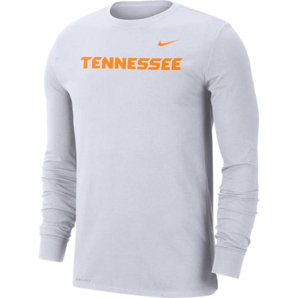 Nike Men's Tennessee Volunteers White Logo Dri-FIT Long Sleeve Shirt product image