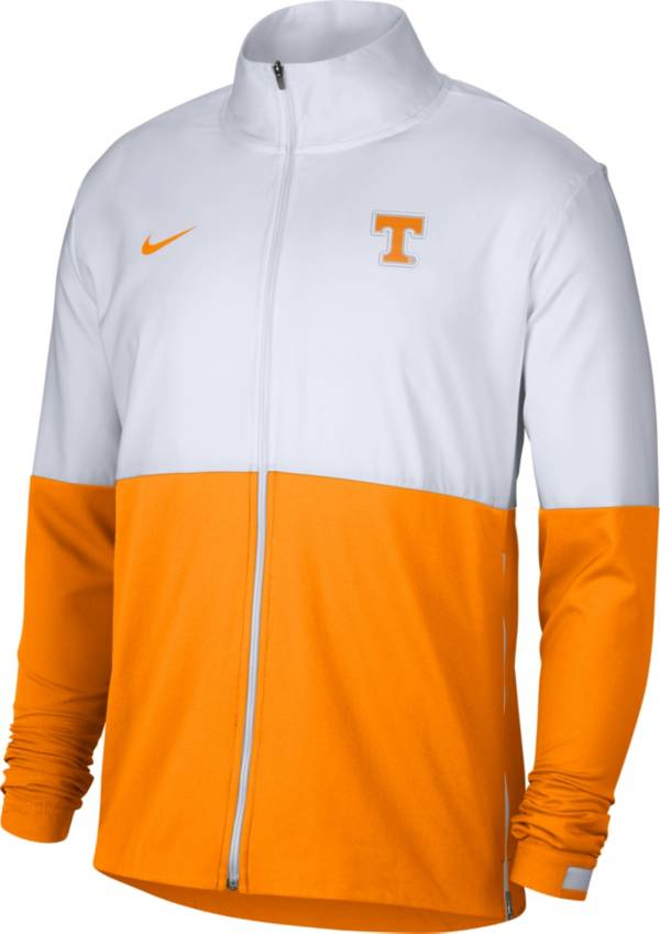 Nike Men's Tennessee Volunteers White/Tennessee Orange Colorblock Woven Full-Zip Jacket product image