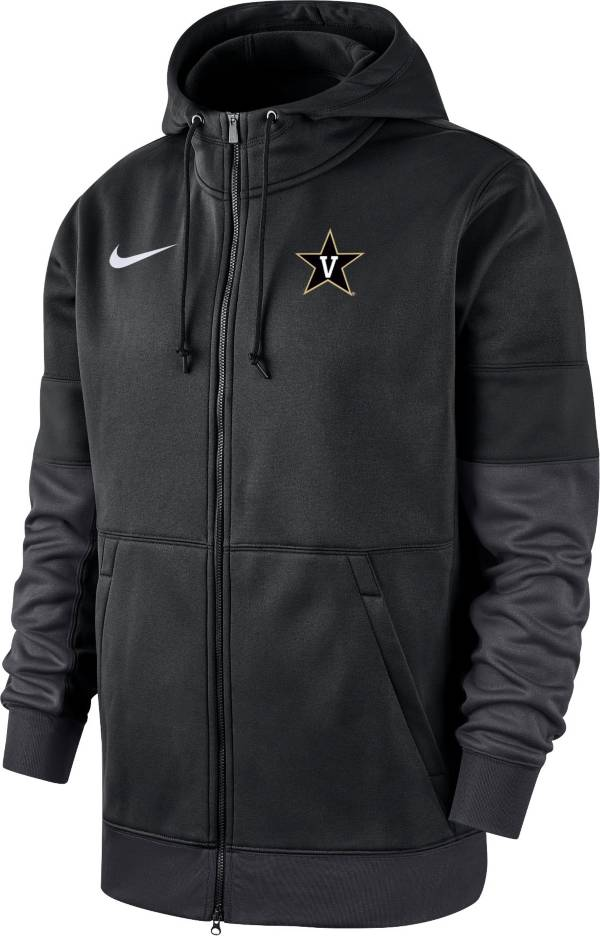 Nike Men's Vanderbilt Commodores Therma-FIT Full-Zip Black Hoodie product image